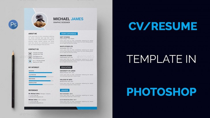 004 Marvelou How To Create A Resume Template In Photoshop Image 728