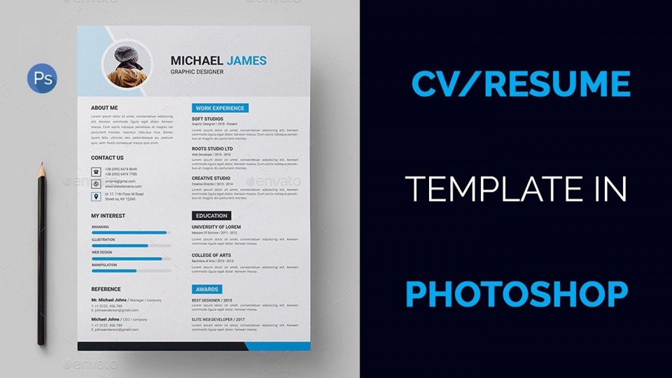 004 Marvelou How To Create A Resume Template In Photoshop Image 960