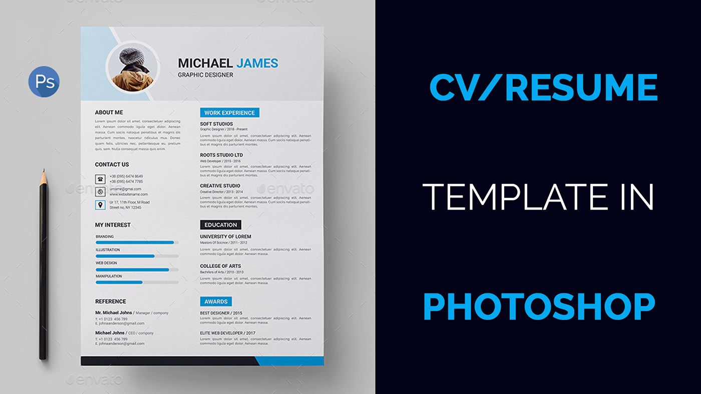 004 Marvelou How To Create A Resume Template In Photoshop Image Full