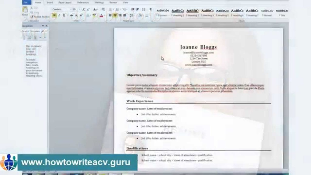 004 Marvelou How To Make Resume Template In Word 2013 Idea Large