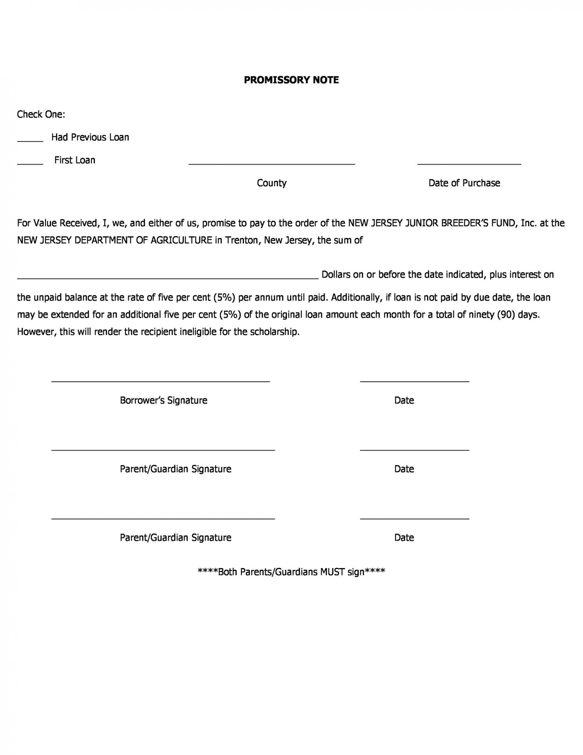 004 Marvelou Loan Promissory Note Template High Resolution  Ppp Form Personal Format Student1920