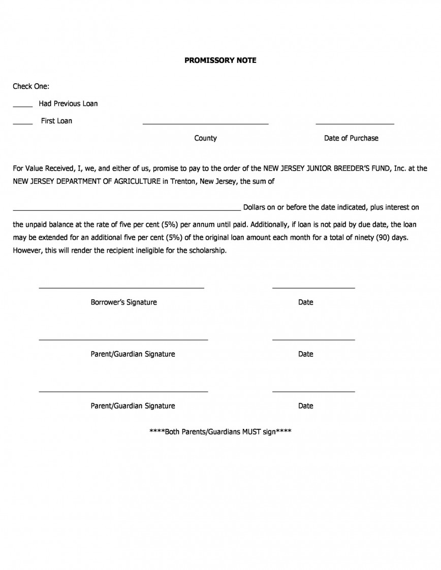 004 Marvelou Loan Promissory Note Template High Resolution  Family Format For Hand Student Bureau Form