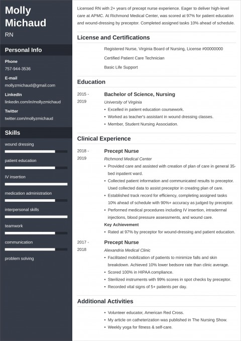 004 Marvelou New Grad Nursing Resume Template Highest Quality  Nurse Graduate Practitioner480