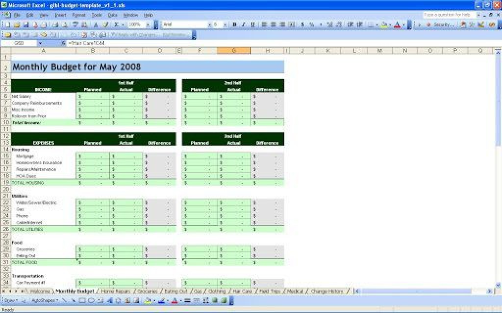 004 Marvelou Personal Budget Spreadsheet Template For Mac Idea Large