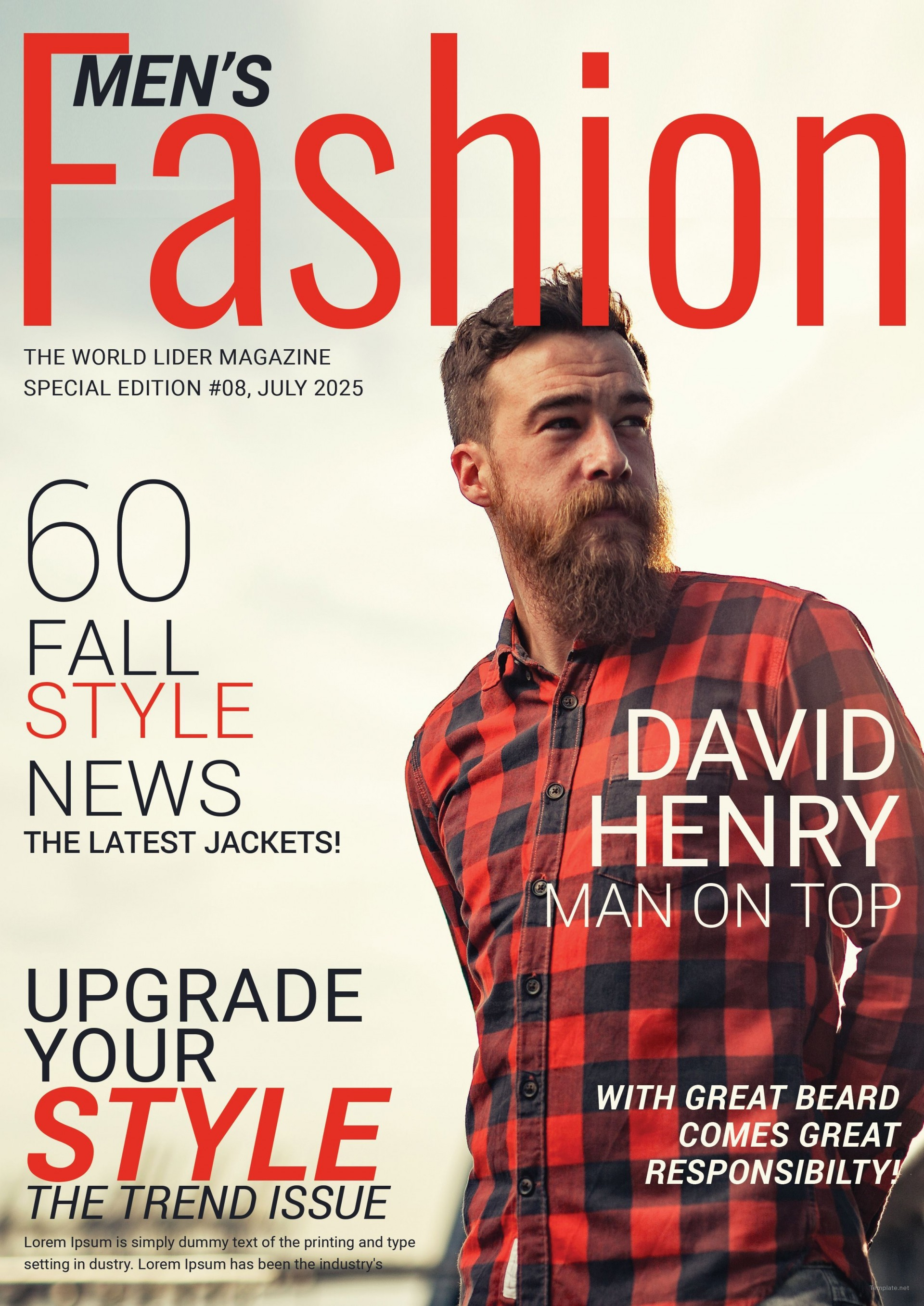 004 Marvelou Photoshop Fashion Magazine Cover Template Free High Definition 1920