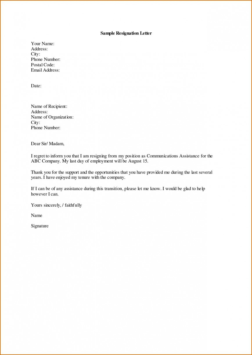 004 Marvelou Resignation Letter Template Word Highest Clarity  South Africa Document Doc