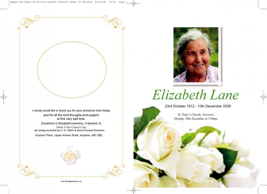 004 Marvelou Simple Funeral Program Template Free Highest Quality  Download