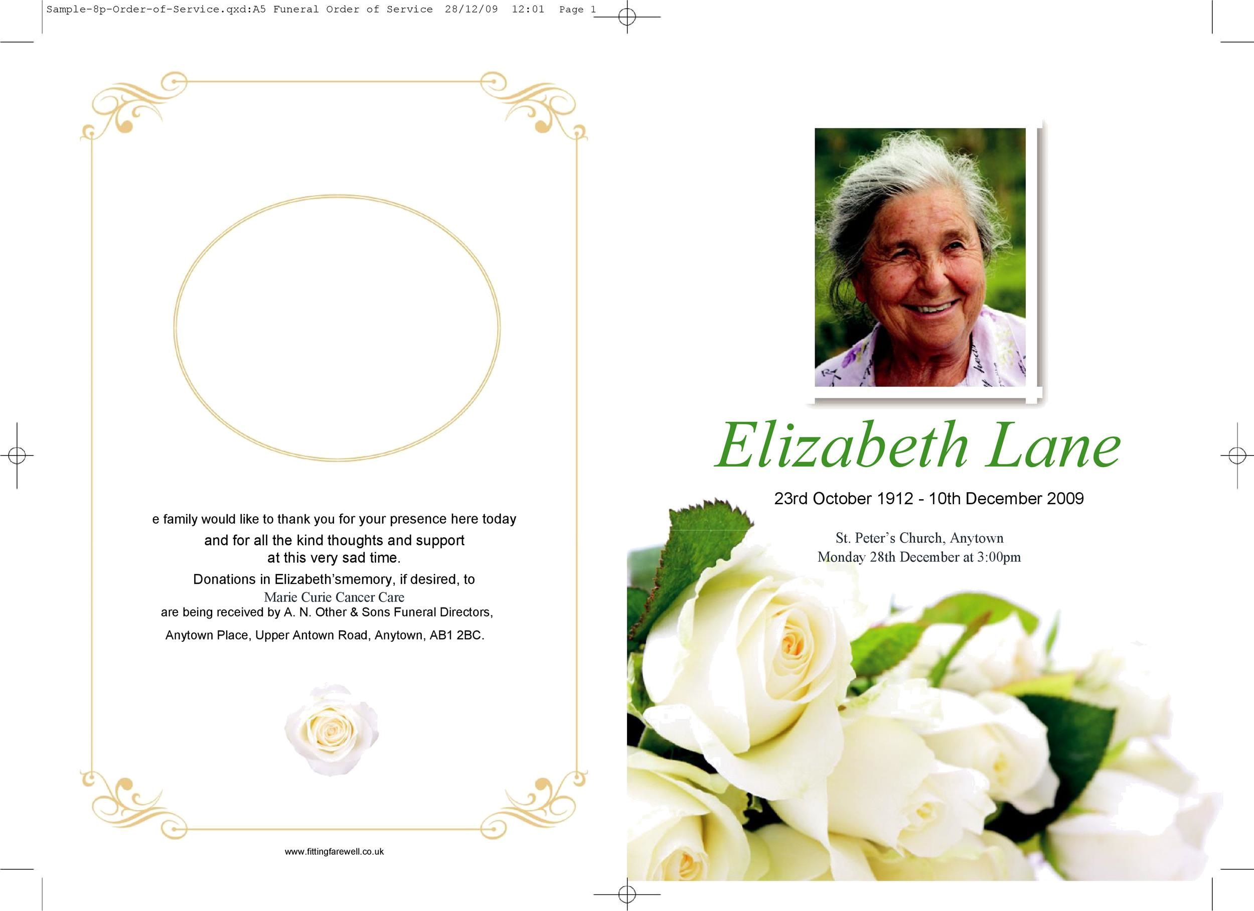 004 Marvelou Simple Funeral Program Template Free Highest Quality  DownloadFull