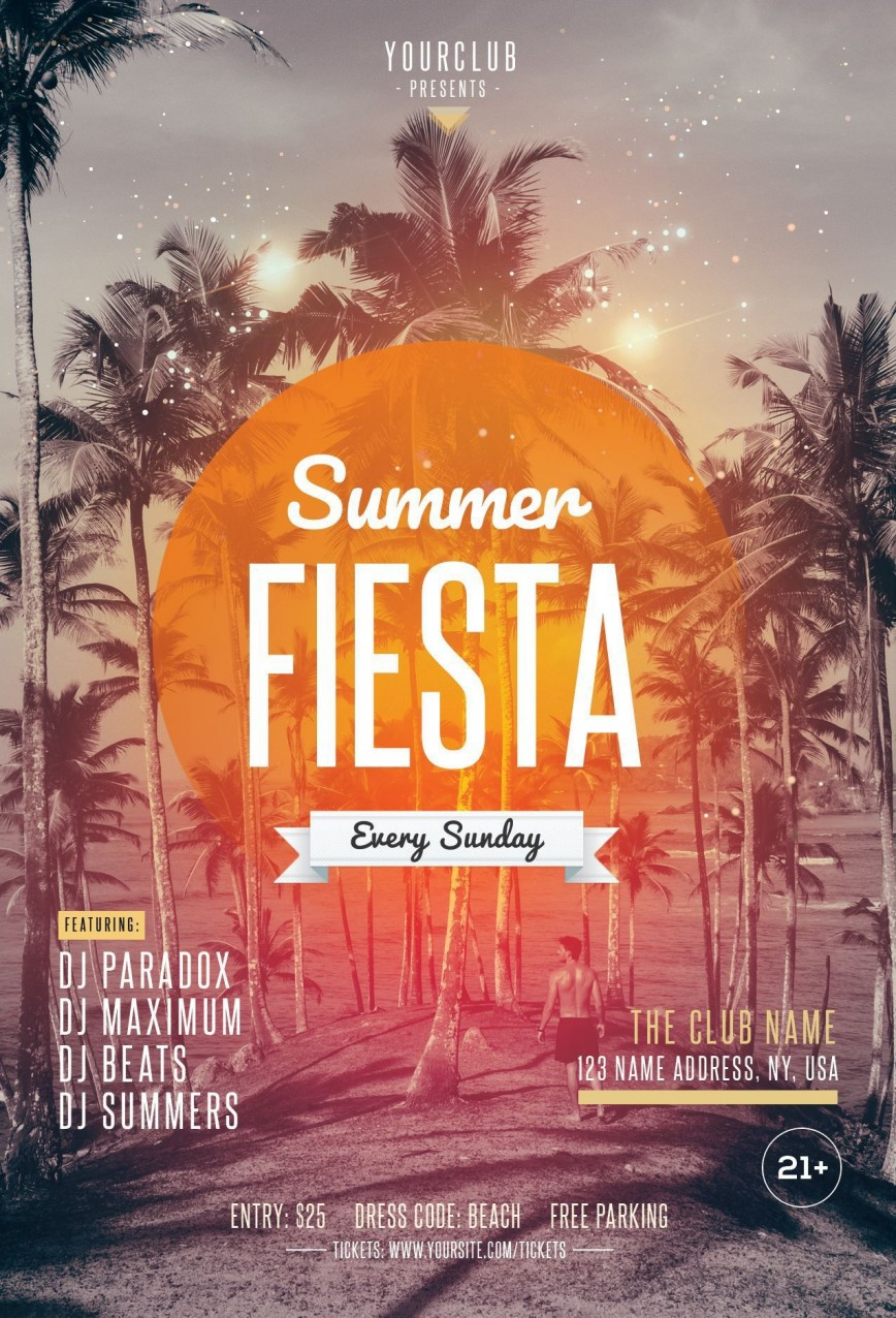 004 Marvelou Summer Party Flyer Template Free Download Photo
