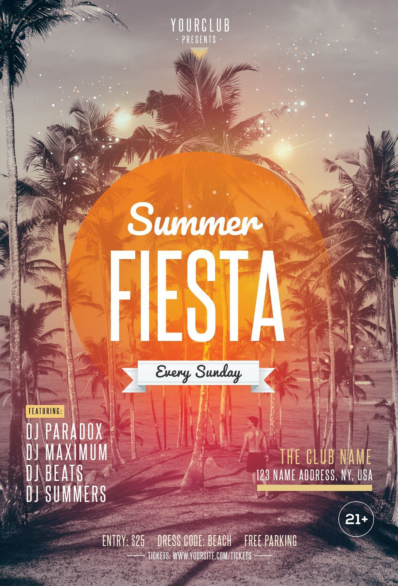 004 Marvelou Summer Party Flyer Template Free Download Photo Full
