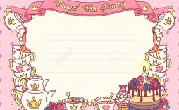 004 Marvelou Tea Party Invitation Template High Resolution  Templates Free Download Bridal Shower