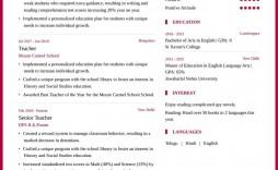 004 Marvelou Teacher Resume Template Free Highest Clarity  Cv Word Download Editable Format Doc