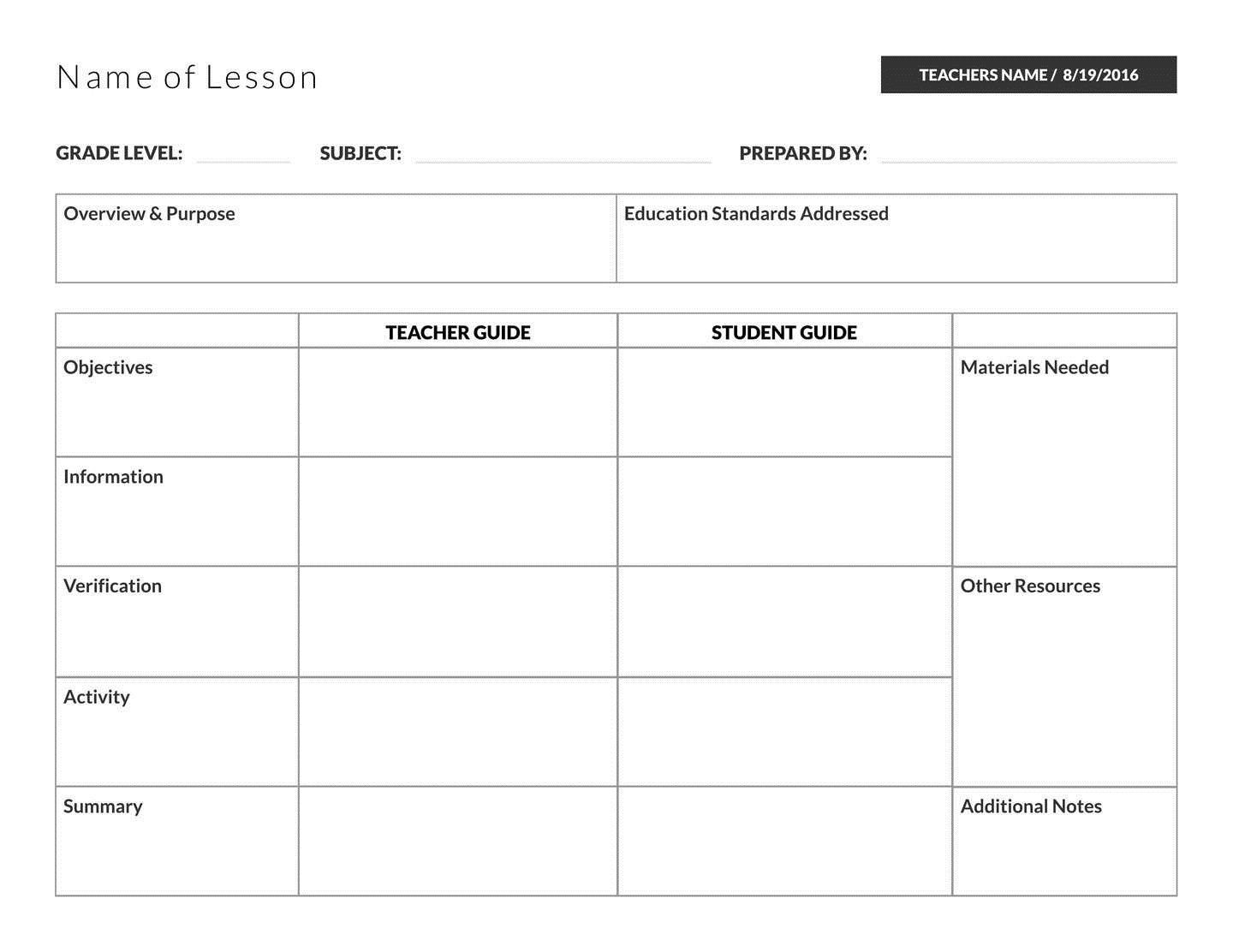 004 Marvelou Unit Lesson Plan Template High Resolution  Templates Thematic Example Mini FormatFull