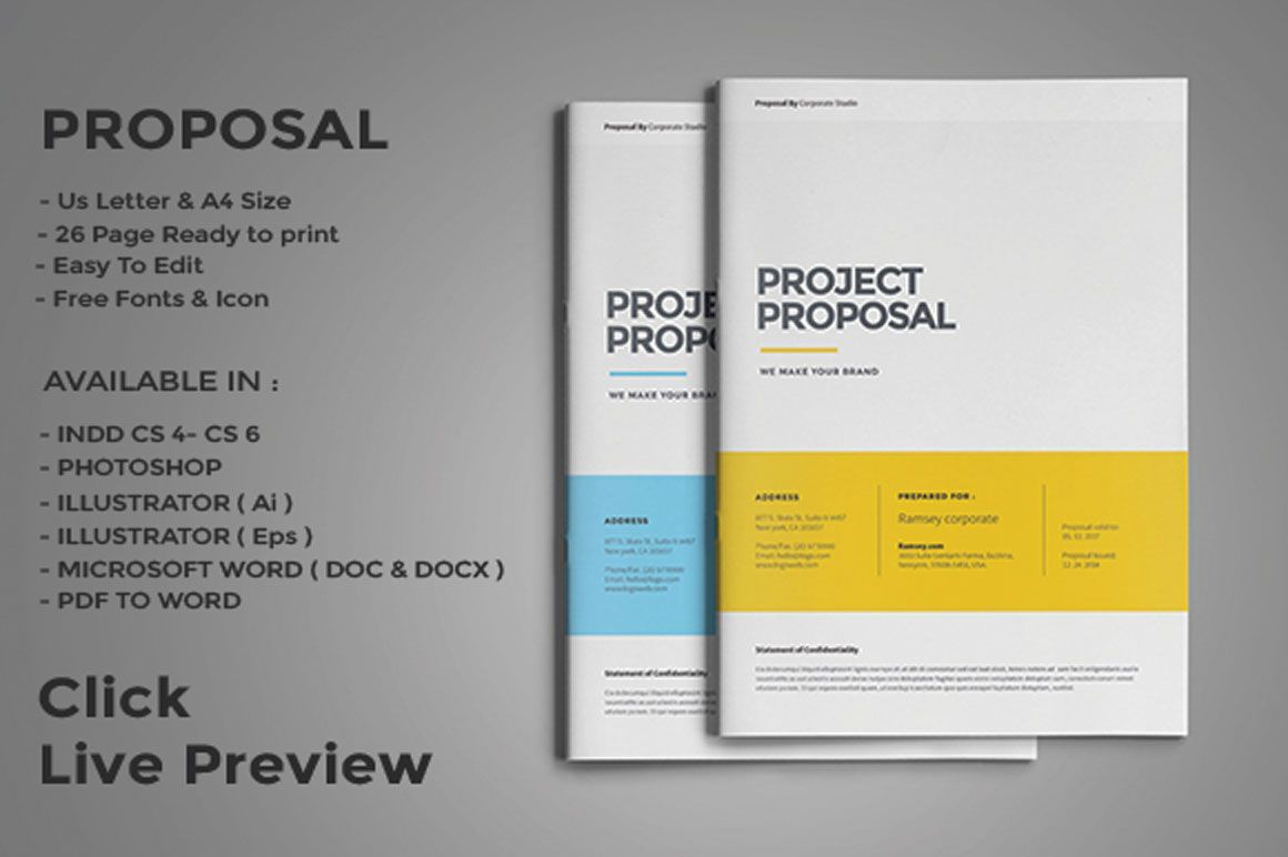 004 Marvelou Web Design Proposal Template Concept  Designer Writing Word Document SimpleFull
