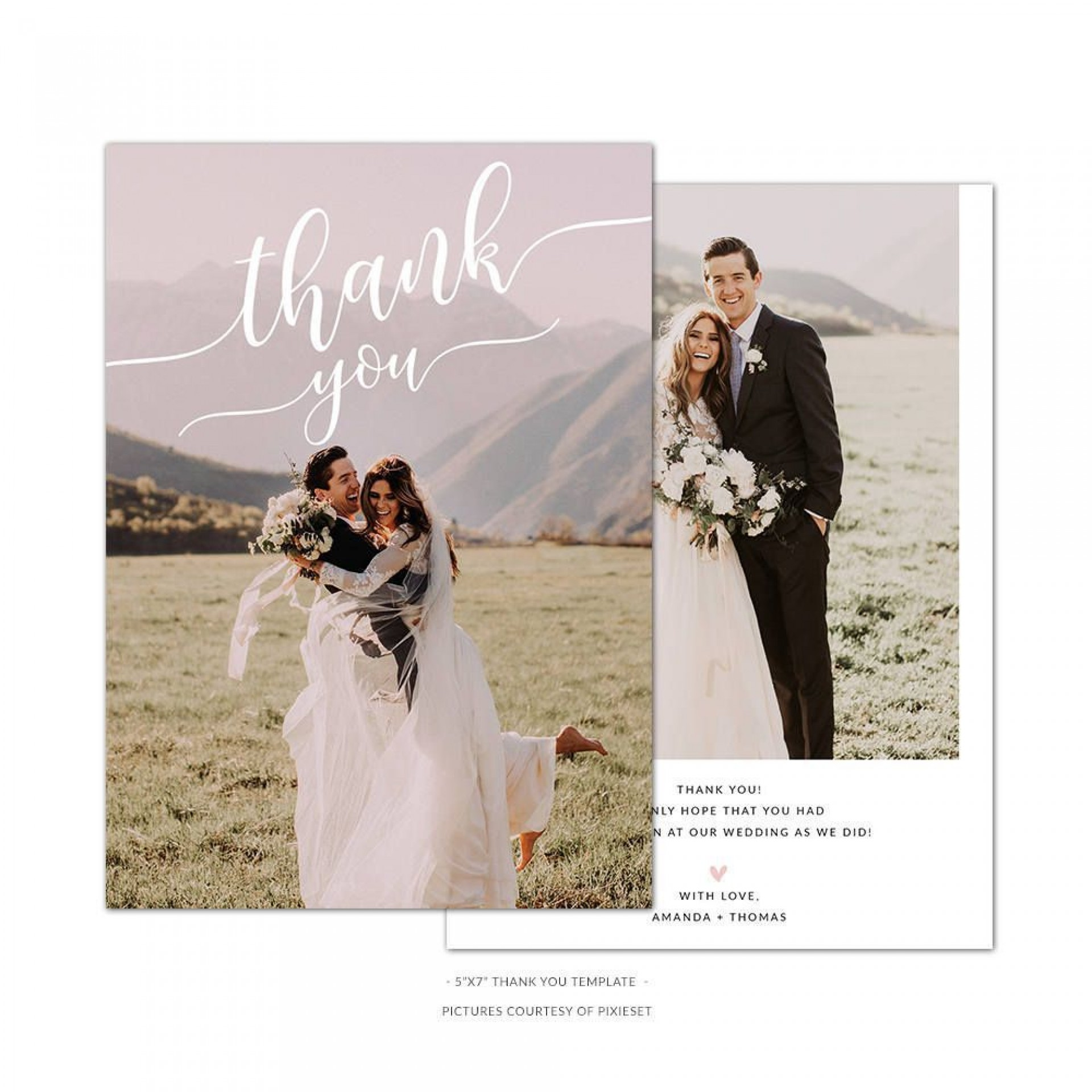 004 Marvelou Wedding Thank You Card Template Psd Highest Quality  Free1920