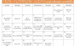 004 Marvelou Weekly Meal Plan Example Sample  Examples 1 Week Template One