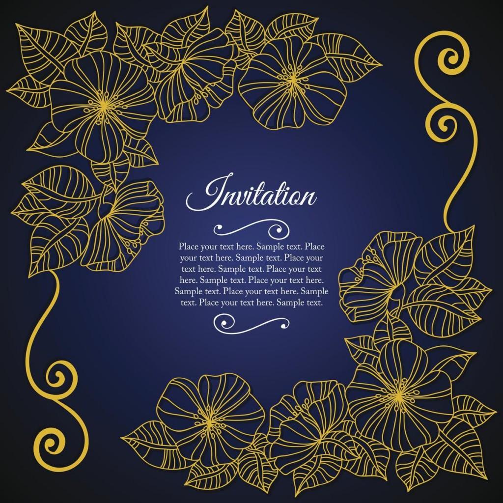 004 Outstanding 50th Wedding Anniversary Invitation Card Sample Highest Quality  WordingLarge
