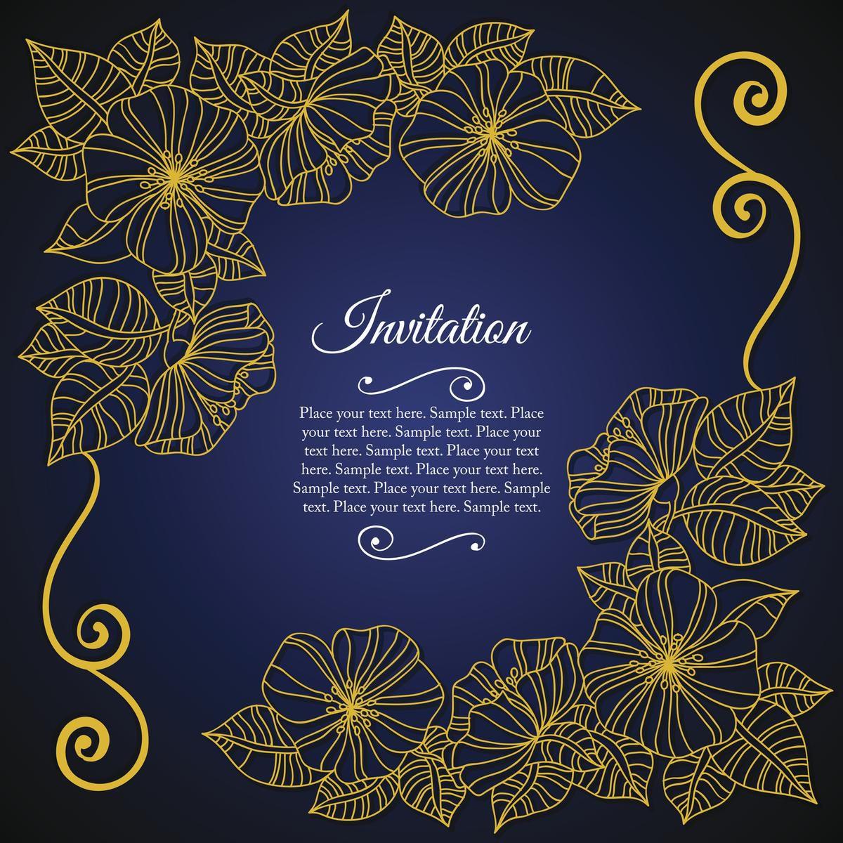 004 Outstanding 50th Wedding Anniversary Invitation Card Sample Highest Quality  WordingFull