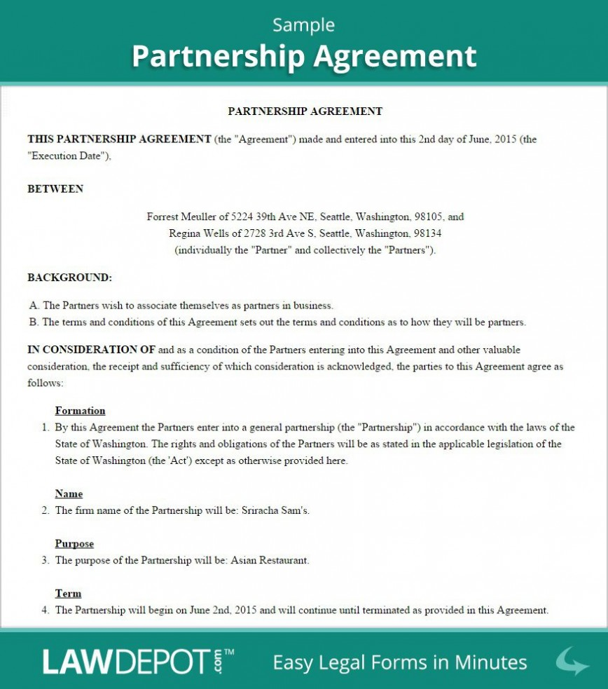 004 Outstanding Busines Partnership Contract Template High Resolution  Agreement Free Nz Word868