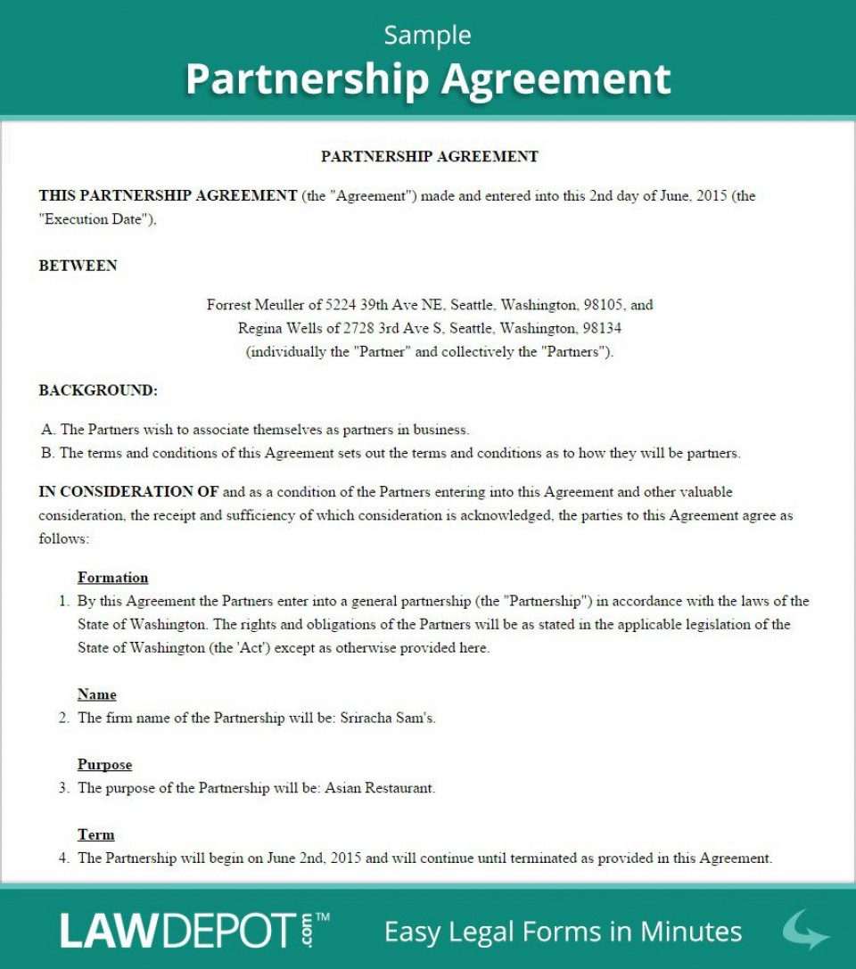 004 Outstanding Busines Partnership Contract Template High Resolution  Agreement Free Nz Word960