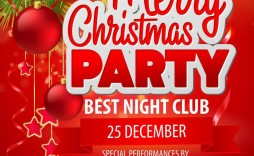 004 Outstanding Christma Party Flyer Template Free High Resolution  Company Invitation Printable Word
