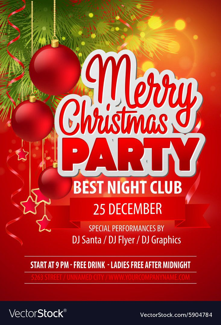 004 Outstanding Christma Party Flyer Template Free High Resolution  Company Invitation Printable WordFull