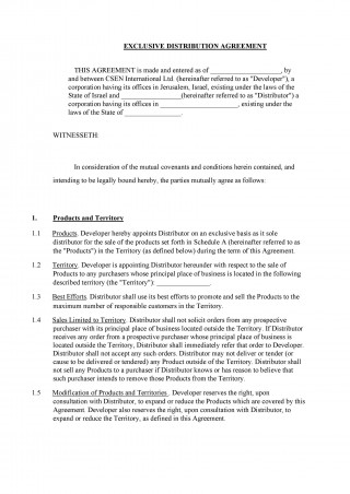 004 Outstanding Exclusive Distribution Agreement Template Australia Picture 320