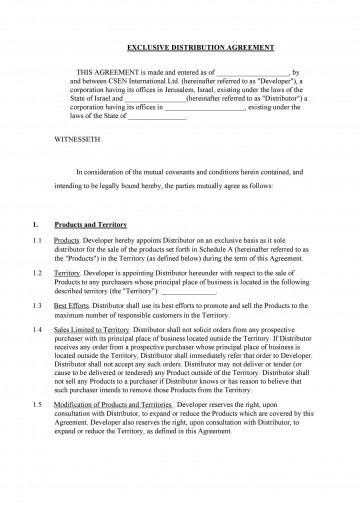 004 Outstanding Exclusive Distribution Agreement Template Australia Picture 360