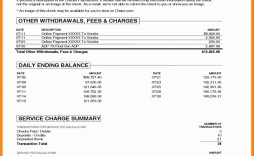 004 Outstanding Fake Chase Bank Statement Template High Resolution  Free Create