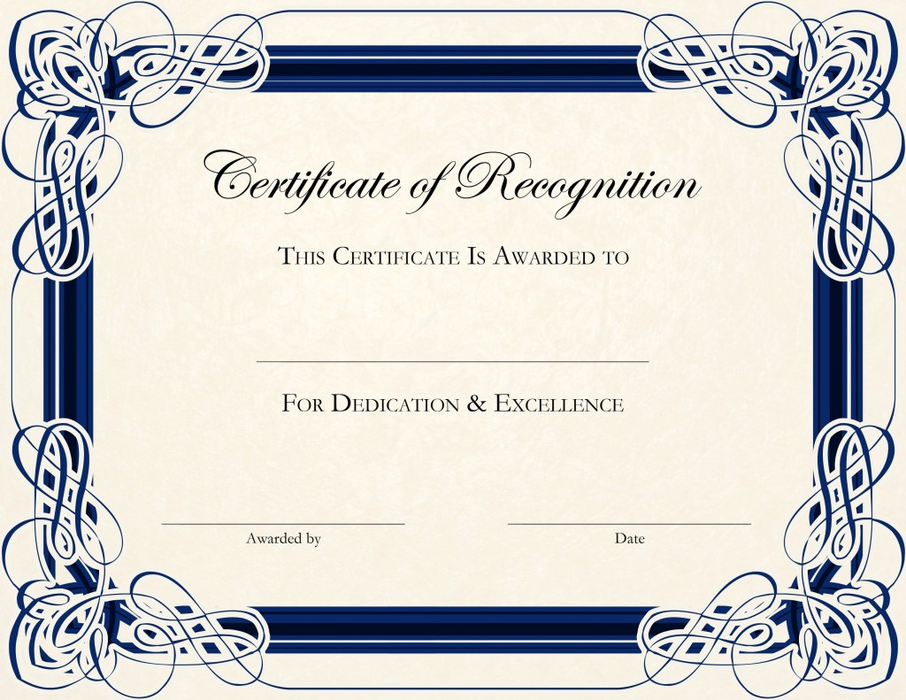 004 Outstanding Free Certificate Template Word Format Idea  Printable In Experience SampleLarge