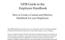 004 Outstanding Free Employee Handbook Template Word High Resolution  Sample In Training Manual