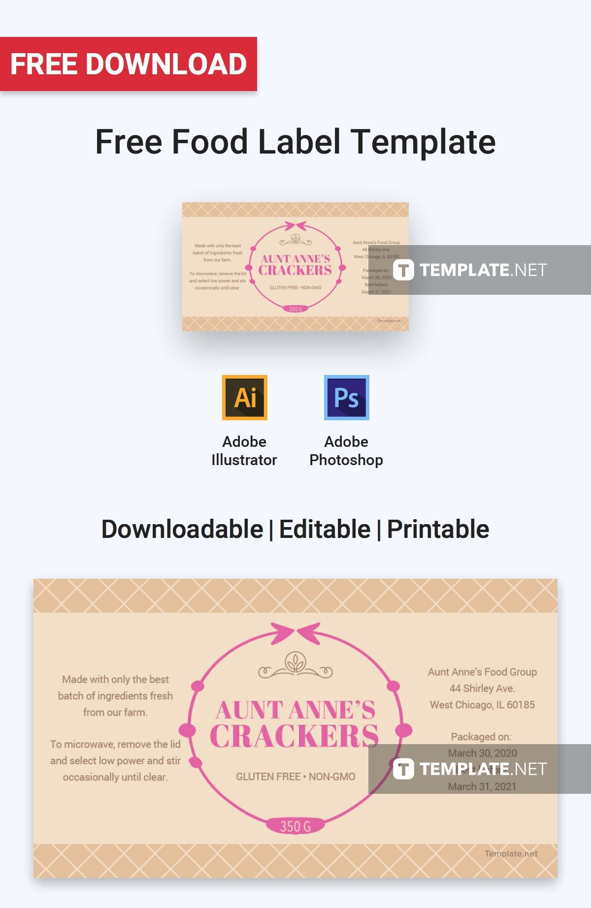 004 Outstanding Free Food Label Design Template High Definition  Templates DownloadFull
