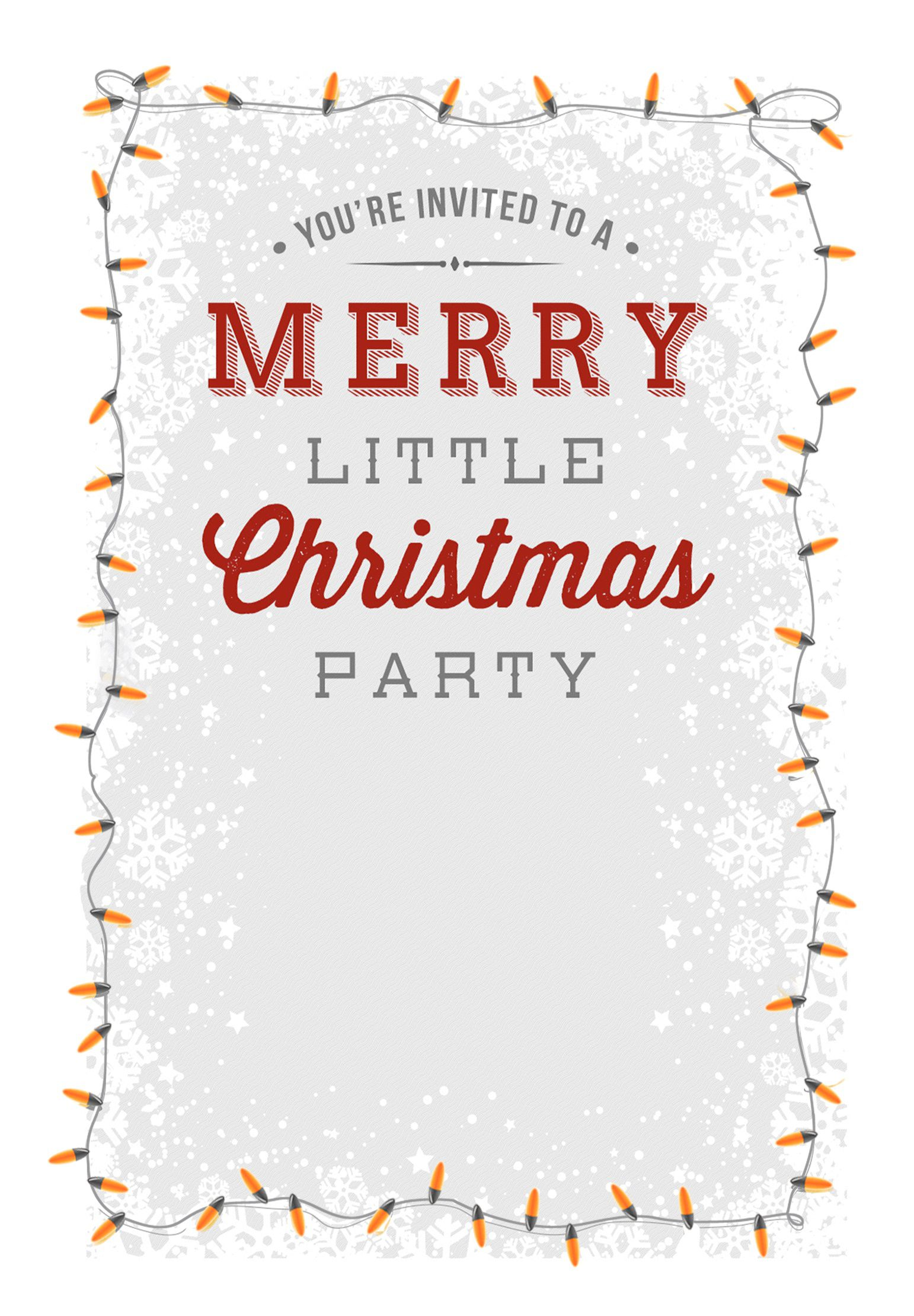 004 Outstanding Free Holiday Invite Template Picture  Templates Party Ticket For EmailFull