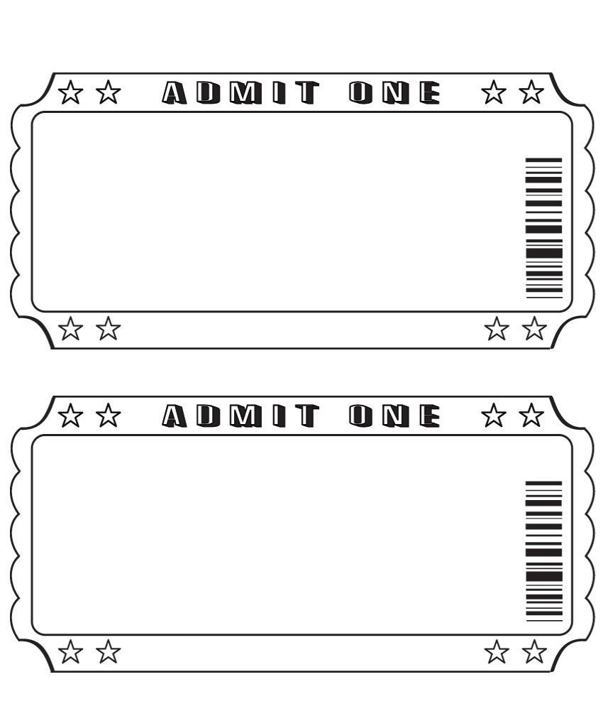 004 Outstanding Free Printable Concert Ticket Clipart Design Full