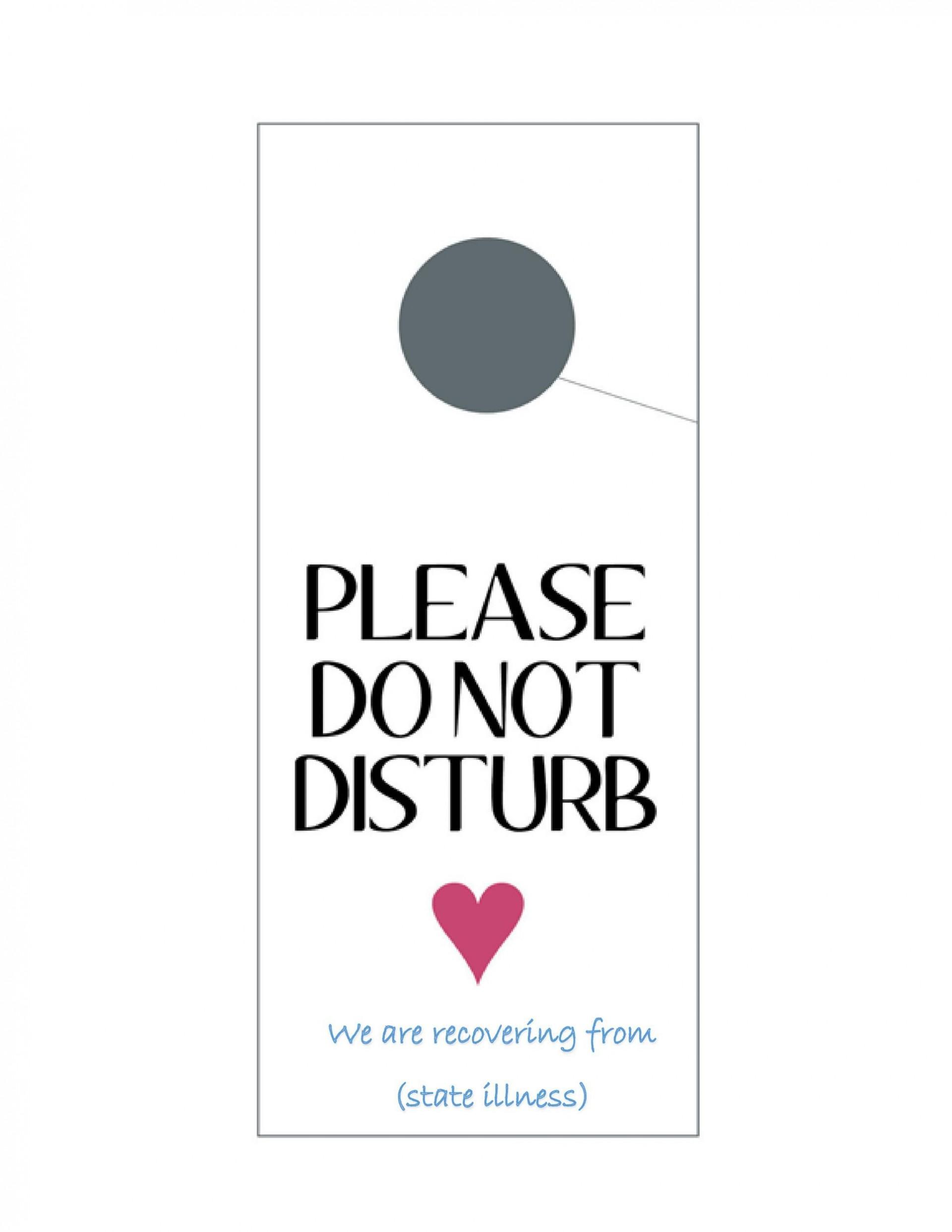 004 Outstanding Free Printable Template For Door Hanger Photo 1920