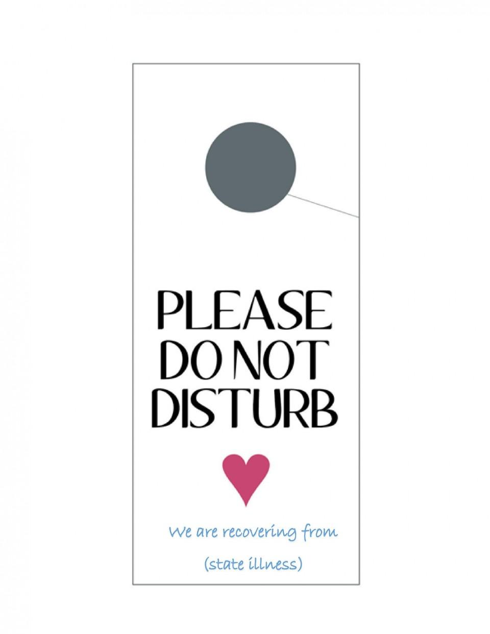 004 Outstanding Free Printable Template For Door Hanger Photo 960