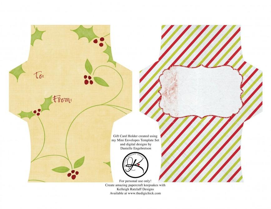 004 Outstanding Gift Card Envelope Template Design  Templates Certificate Diy Printable