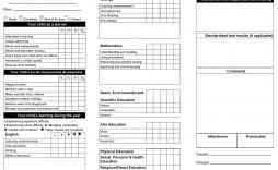 004 Outstanding Junior High School Report Card Template Image