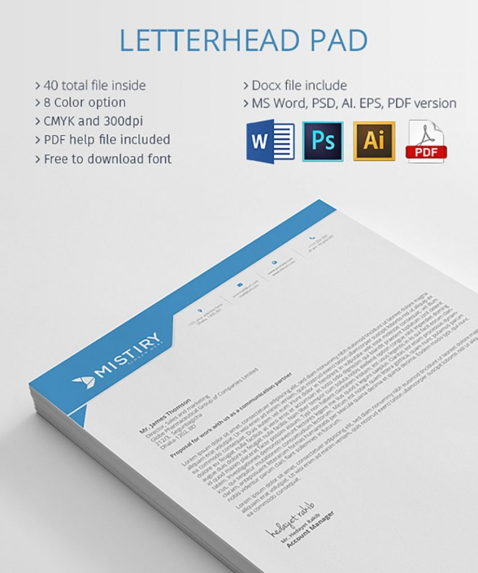004 Outstanding Letterhead Template Free Download Ai Highest Quality  File960