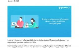 004 Outstanding Service Level Agreement Template Inspiration  South Africa Nz For Website Development