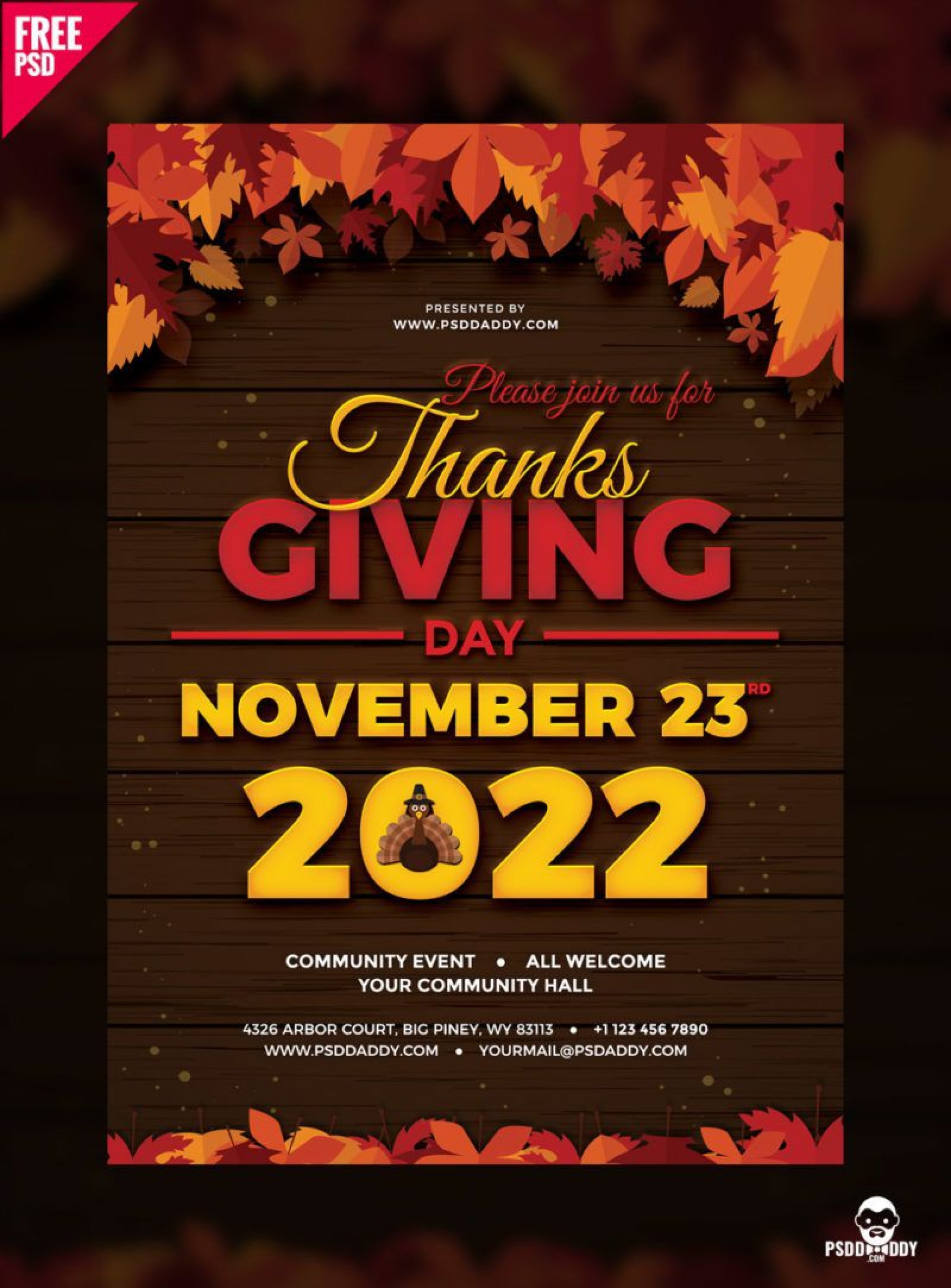 004 Outstanding Thanksgiving Flyer Template Free High Resolution  Food Drive Party1920