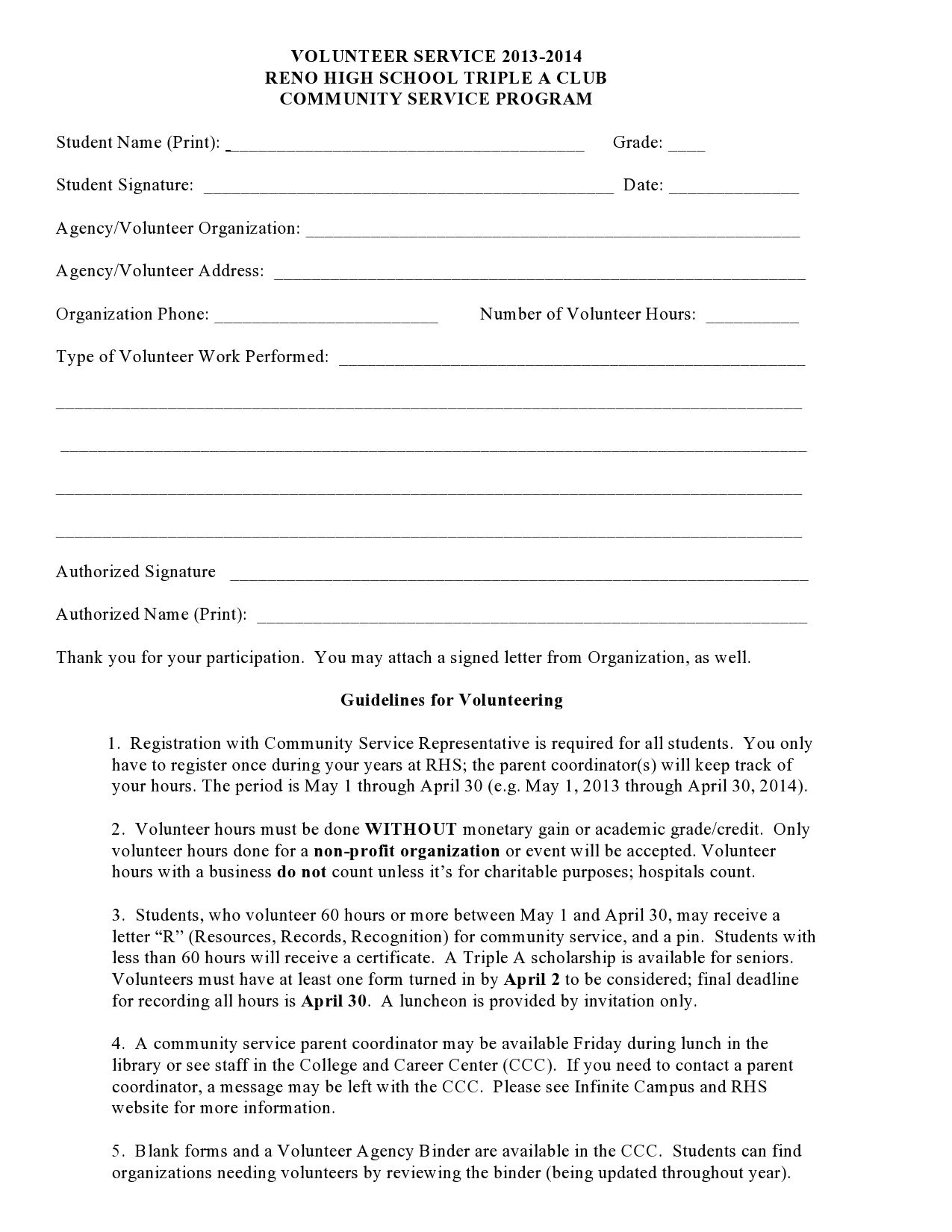 004 Outstanding Volunteer Application Template For Nonprofit Example  Sample FormFull