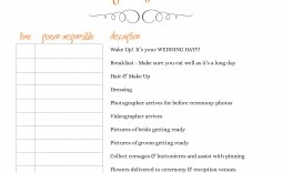 004 Outstanding Wedding Day Schedule Template Picture  Templates Timetable Timeline Printable Itinerary Excel
