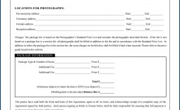 004 Outstanding Wedding Photography Contract Template Canada Example