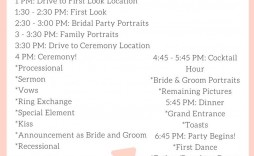004 Outstanding Wedding Timeline Template Free Download Highest Clarity
