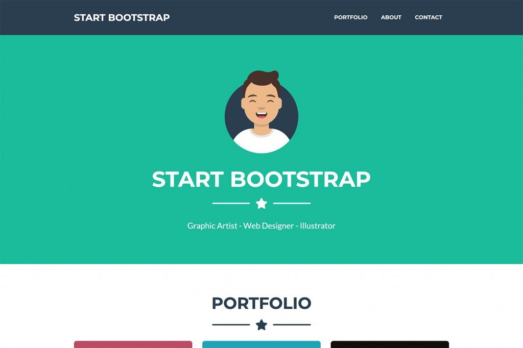 004 Phenomenal Bootstrap Portfolio Template Free High Definition  Download Website 4Large