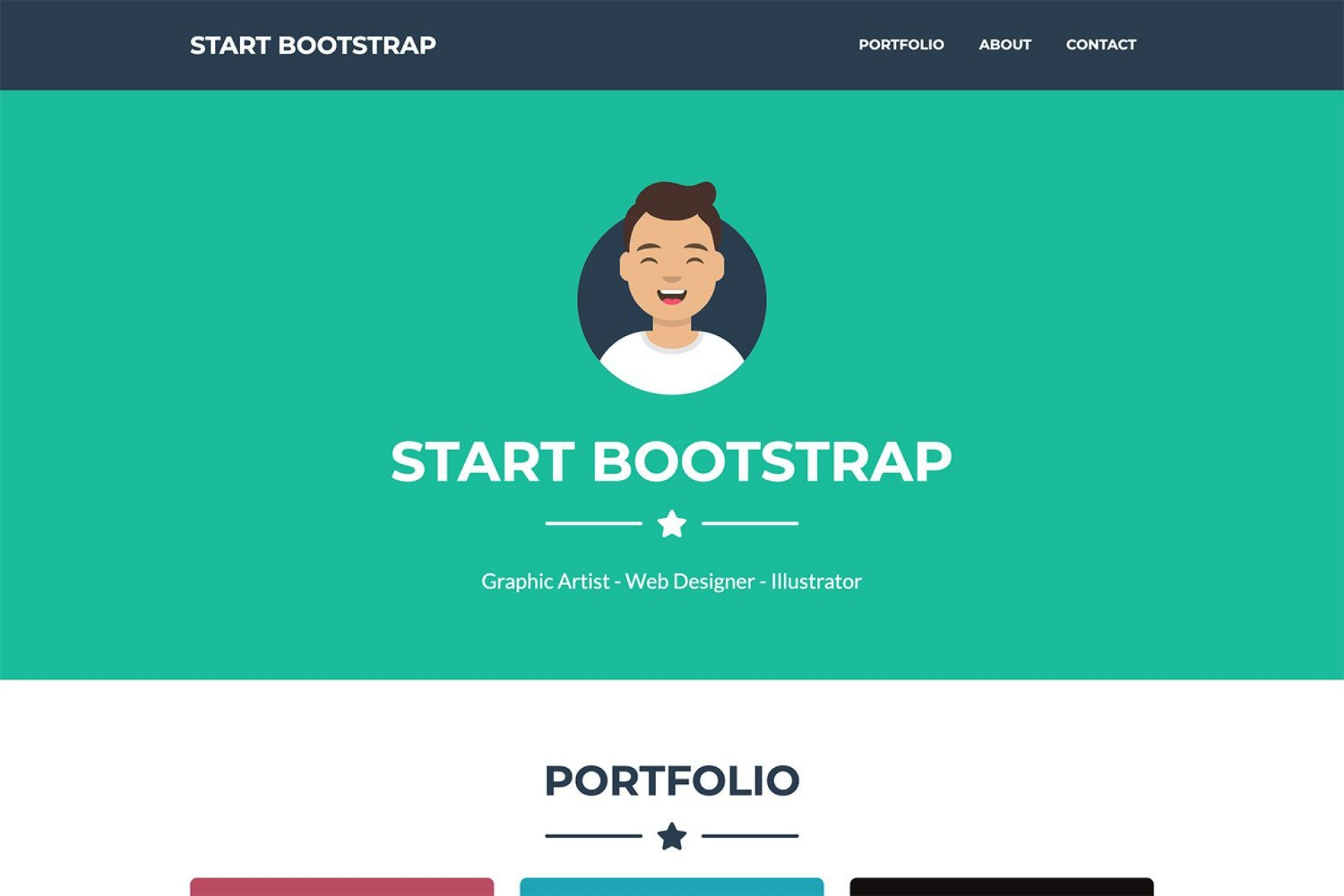 004 Phenomenal Bootstrap Portfolio Template Free High Definition  Download Website 41920