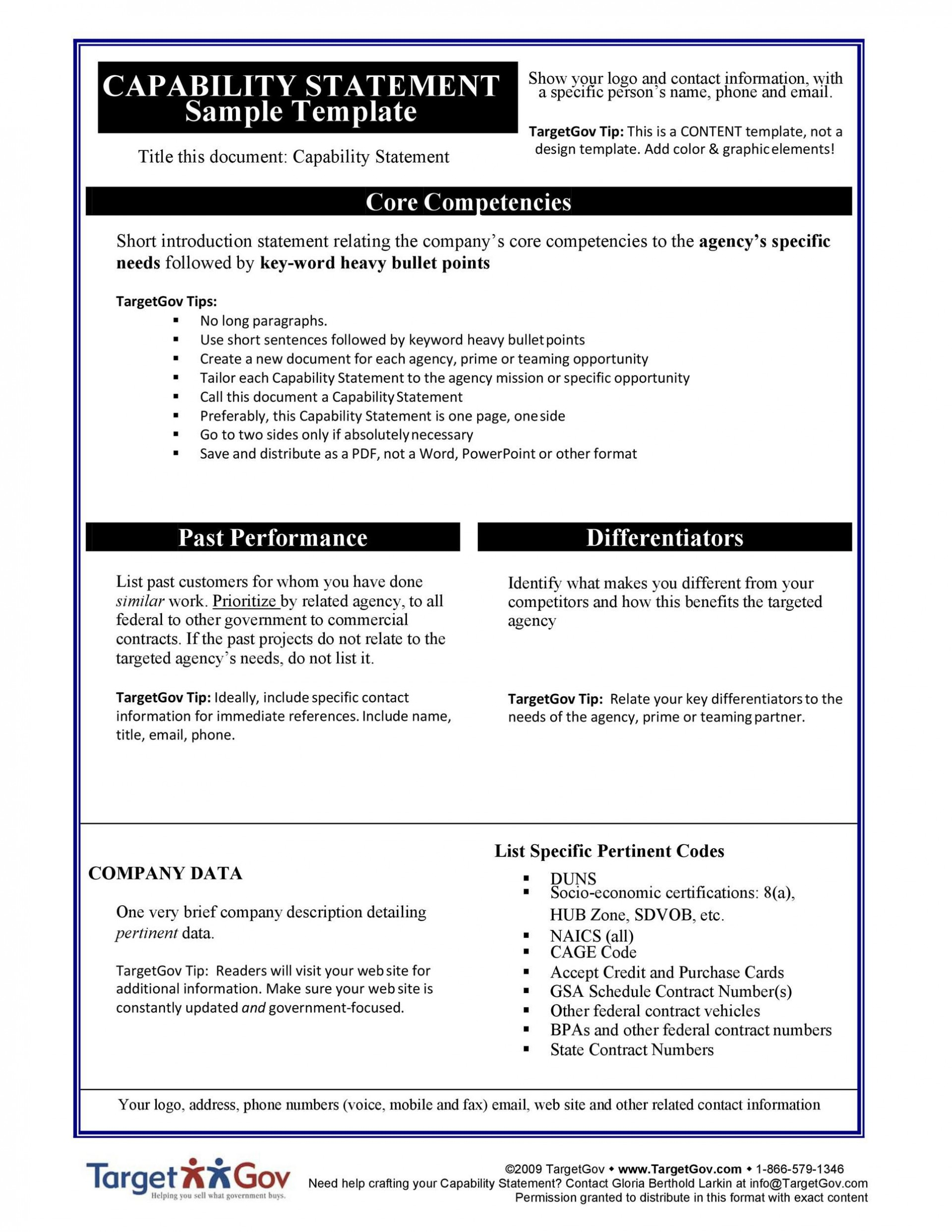 004 Phenomenal Capability Statement Template Word Doc Highest Clarity  Document Free1920