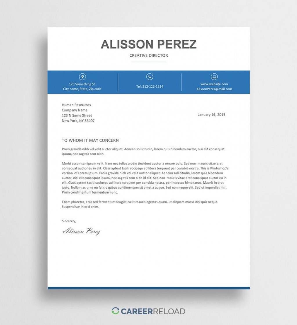 004 Phenomenal Cover Letter Free Template Sample  Download Word DocLarge