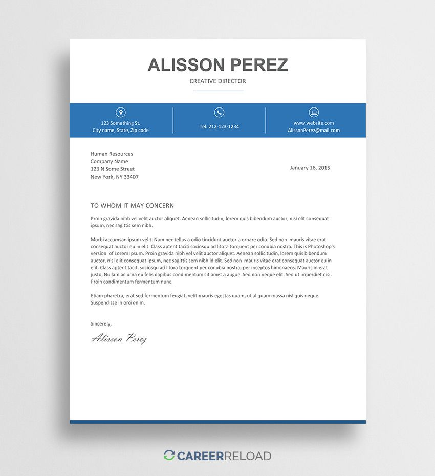004 Phenomenal Cover Letter Free Template Sample  Download Word DocFull